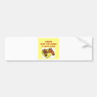 caballos etiqueta de parachoque