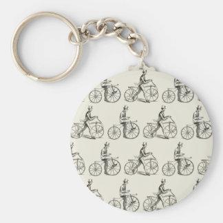 Caballos excelentes (bicicletas del vintage) llavero redondo tipo pin