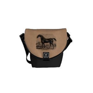Caballos excelentes retros del caballo de raza de  bolsa de mensajeria