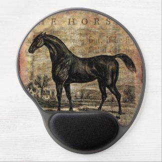 Caballos excelentes y árabes del caballo del alfombrilla gel
