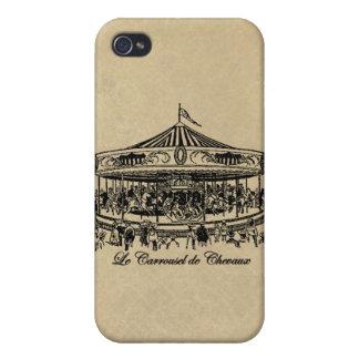 Caballos franceses ropa y regalos del carrusel iPhone 4 protector