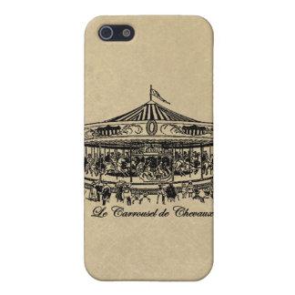 Caballos franceses ropa y regalos del carrusel iPhone 5 fundas