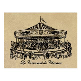 Caballos franceses ropa y regalos del carrusel postal