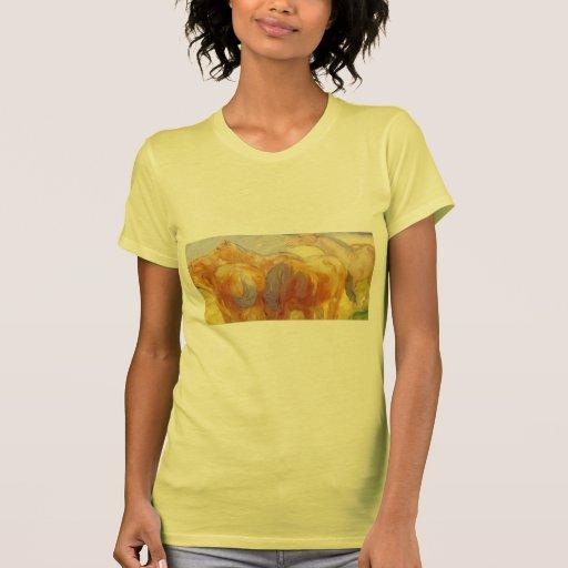Caballos grandes de Francisco Marc Lenggries Camisetas