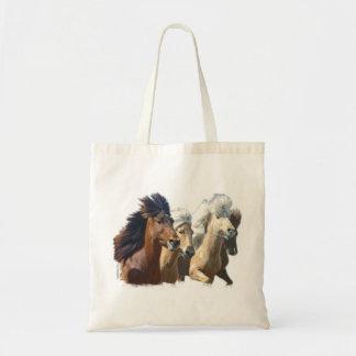 Caballos islandeses bolsa tela barata
