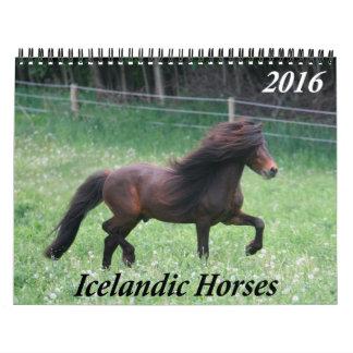Caballos islandeses - calendario mensual 2016