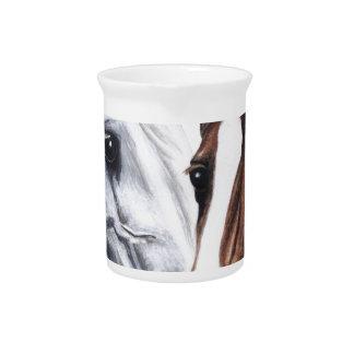 caballos jarra para bebida