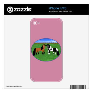 Caballos lindos iPhone 4S skins