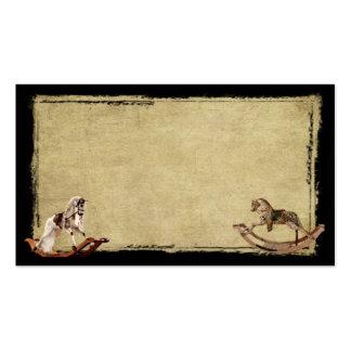 Caballos mecedora de Ol - tarjetas de visitas remi Plantilla De Tarjeta De Visita
