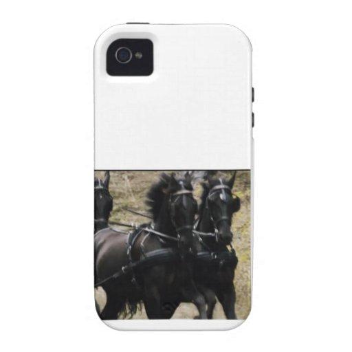 CABALLOS negros iPhone 4 Carcasas