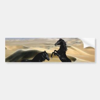 Caballos negros salvajes de la belleza pegatina para auto