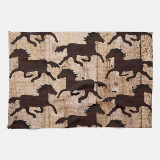 Caballos occidentales del país en los regalos de m toalla