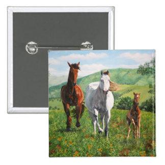 caballos pin cuadrado
