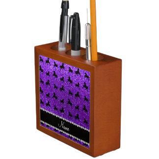 Caballos púrpuras personalizados del brillo del