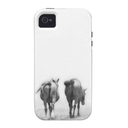 Caballos que se van iPhone 4 carcasas