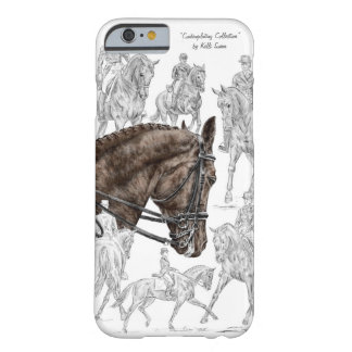Caballos recogidos FEI del Dressage Funda De iPhone 6 Barely There