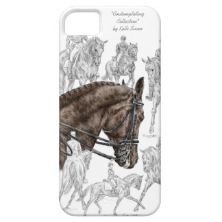 Caballos recogidos FEI del Dressage Funda Para iPhone 5 Barely There