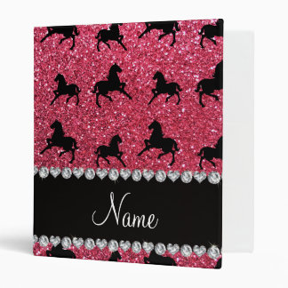 "Caballos rosados fucsias conocidos personalizados carpeta 1"""