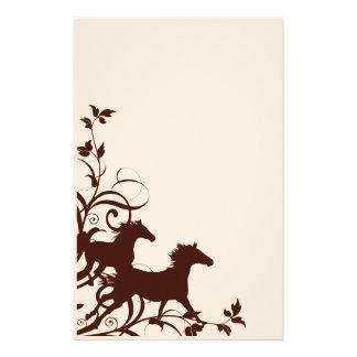 Caballos salvajes de Brown Papelería De Diseño