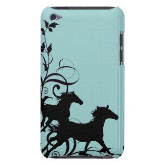 Caballos salvajes negros Case-Mate iPod touch cobertura
