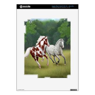 Caballos salvajes que corren la piel libre de iPad 3 skin