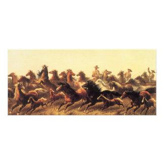 Caballos salvajes Roping del caminante de James Plantillas De Lonas
