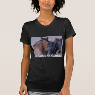 Caballos salvajes y camiseta maravillosa de las polera