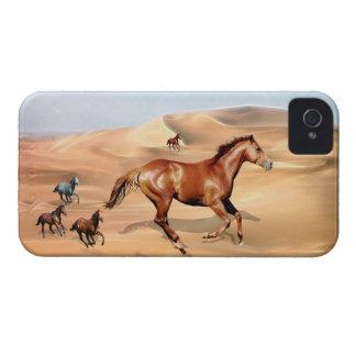Caballos salvajes y dunas de arena iPhone 4 Case-Mate protector