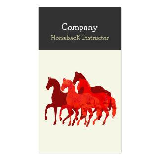 Caballos traseros del instructor del caballo plantillas de tarjetas personales