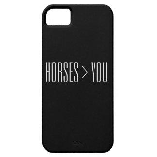 """""""Caballos > usted"""" caja del teléfono iPhone 5 Case-Mate Cárcasas"""