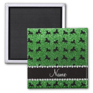 Caballos verdes conocidos personalizados del brill iman