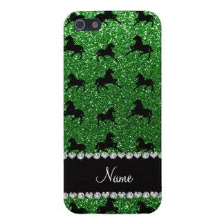 Caballos verdes conocidos personalizados del iPhone 5 funda