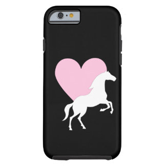 Caballos y amor funda de iPhone 6 tough