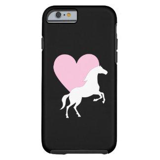 Caballos y amor funda resistente iPhone 6