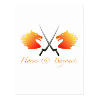 Caballos y bayonetas postal
