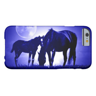 Caballos y caja azul del iPhone 6 de la noche Funda Para iPhone 6 Barely There