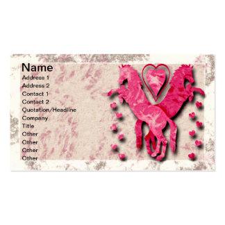 Caballos y corazones tarjetas de visita