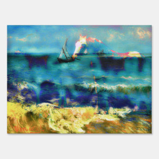 Caballos y mar - Bierstadt y Van Gogh