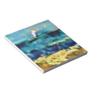 Caballos y mar - Bierstadt y Van Gogh Blocs