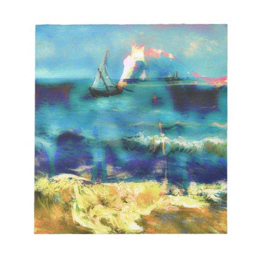 Caballos y mar - Bierstadt y Van Gogh Blocs De Notas