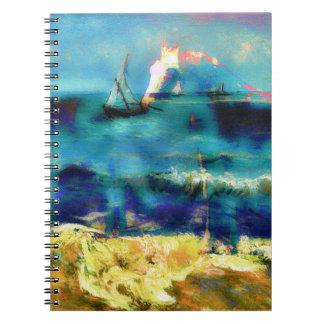 Caballos y mar - Bierstadt y Van Gogh Libretas