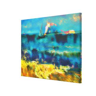 Caballos y mar - Bierstadt y Van Gogh Lona Estirada Galerias