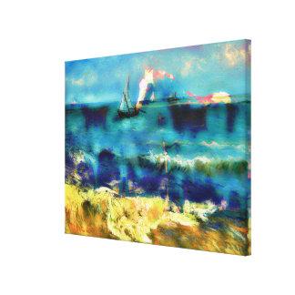 Caballos y mar - Bierstadt y Van Gogh Impresiones De Lienzo