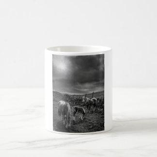 Caballos y taza del potro