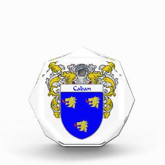 Caban Coat of Arms Family Crest Award