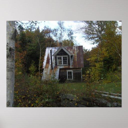 cabaña abandonada póster