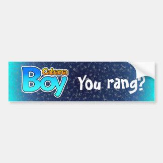 Cabana Boy Bumper Sticker