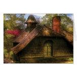 Cabaña - casa dulce de la señora mayor tarjetón