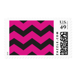 Cabana - Chevron, Pink and Black Postage