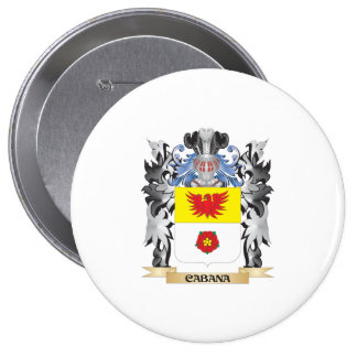 Cabana Coat of Arms - Family Crest 4 Inch Round Button